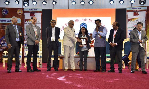 Dr. Balaka Barkakaty awarded DALMIA-HEMSI Award 2019