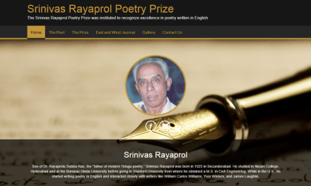 Srinivas Rayaprol Poetry Prize to be presented at HLF 2020