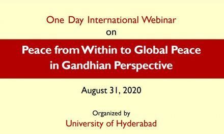 """International Webinar on  """"Peace from Within to Global Peace in Gandhian Perspective"""""""