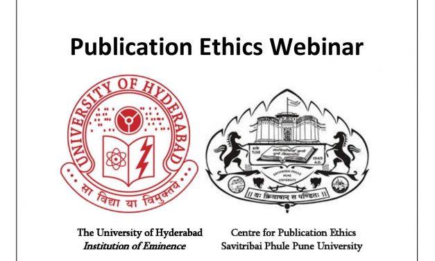 Webinar on Publication Ethics