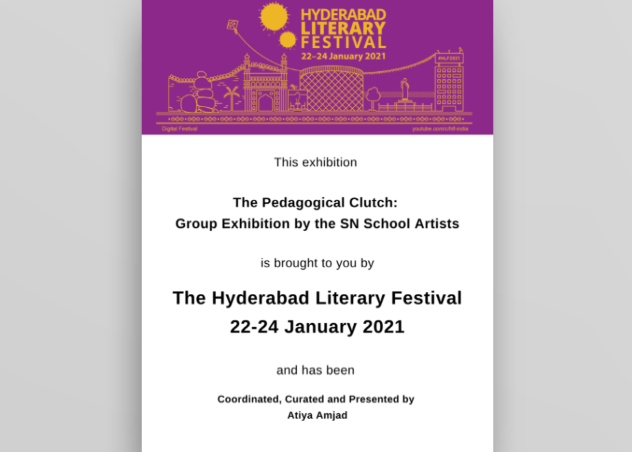 """""""The Pedagogical Clutch: Group Exhibition by the S N School Artists"""""""