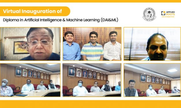 Dr. V.K. Saraswat virtually inaugurates the first batch of online Diploma in Artificial Intelligence & Machine Learning (DAI&ML)