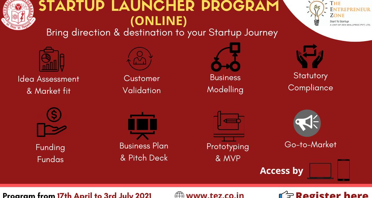 Online Startup Launcher Program at UoH