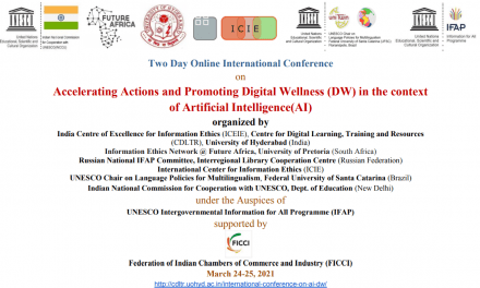 Hyderabad Declaration on Artificial Intelligence (AI) and Digital Wellness (DW) 2021