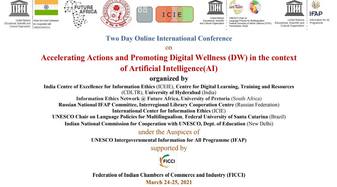 Hyderabad Declaration on Artificial Intelligence (AI) and Digital Wellness (DW) 2021