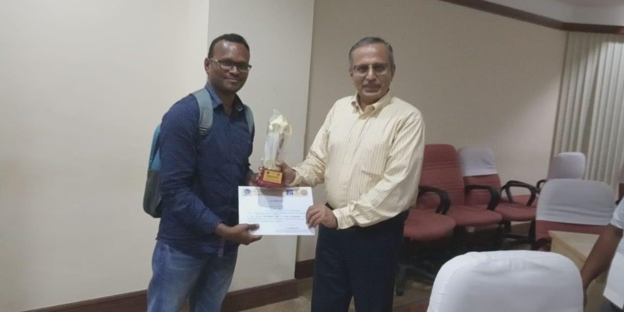Honour for D. P. S. L. Kamewari & S. Sai Shiva of UoH