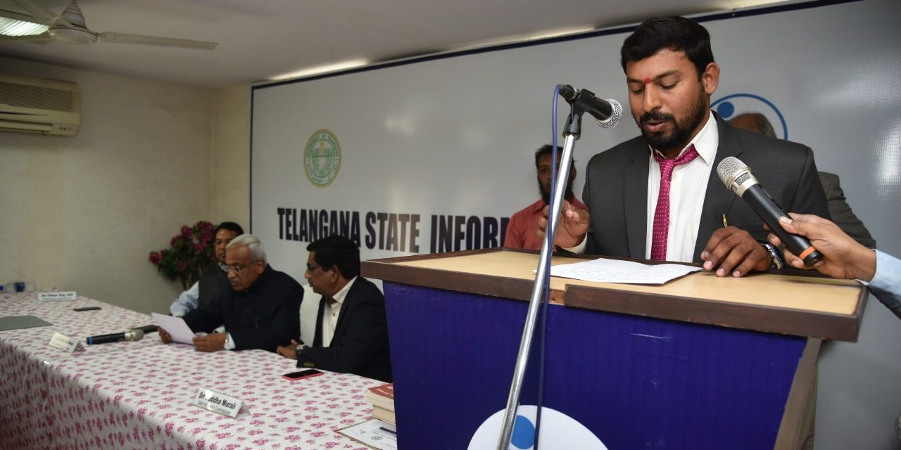 Dr. Guguloth Shankar Naik appointed as Telangana State Information Commissioner