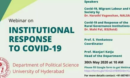 """One-day webinar on """"Institutional Response to COVID-19″"""