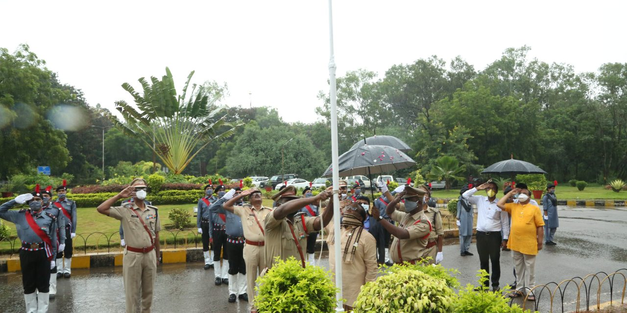 74th Independence Day commemorated at University of Hyderabad