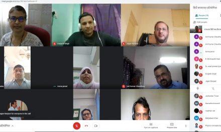 कविसम्मेलन जैसी रही हिंदी काव्यपाठ प्रतियोगिता