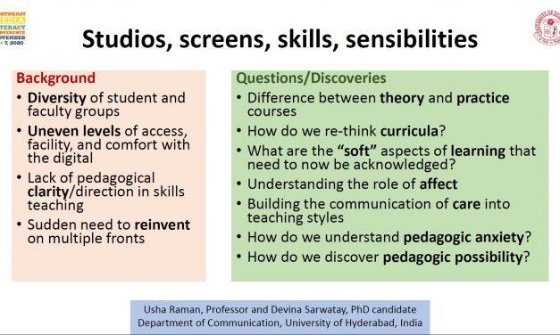 Studios, screens, skills, and sensibilities