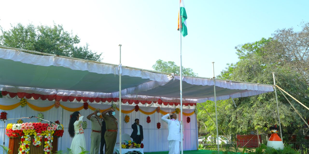 72nd Republic Day celebrated at the University of Hyderabad