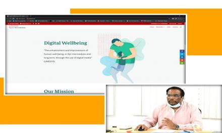 Launching of Online Content on Digital Wellbeing by the Vice-Chancellor
