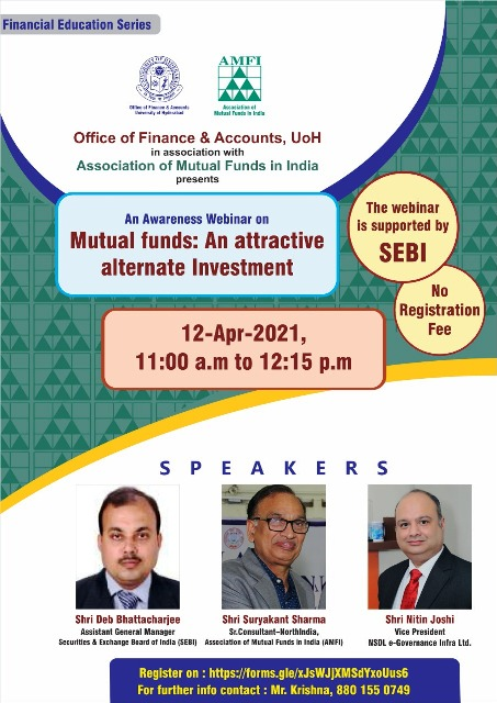 Webinar on Mutual Funds: An Alternate Investment organised