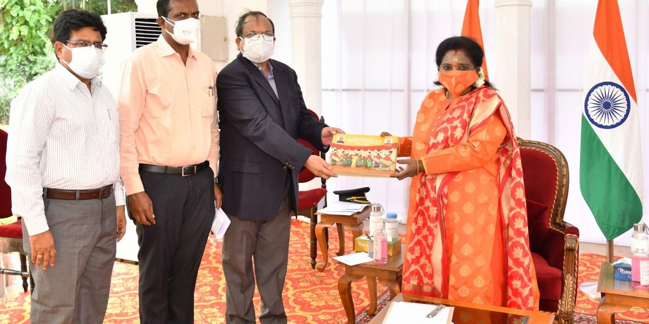 Vice-Chancellor paid a courtesy call on the Hon'ble Governor of Telangana