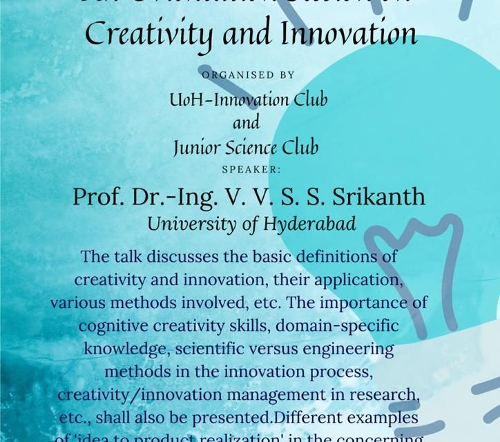 Orientation Session on Creativity and Innovation