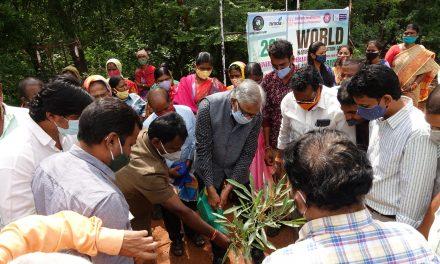Mega Plantation Drive at UoH on World Nature Conservation Day