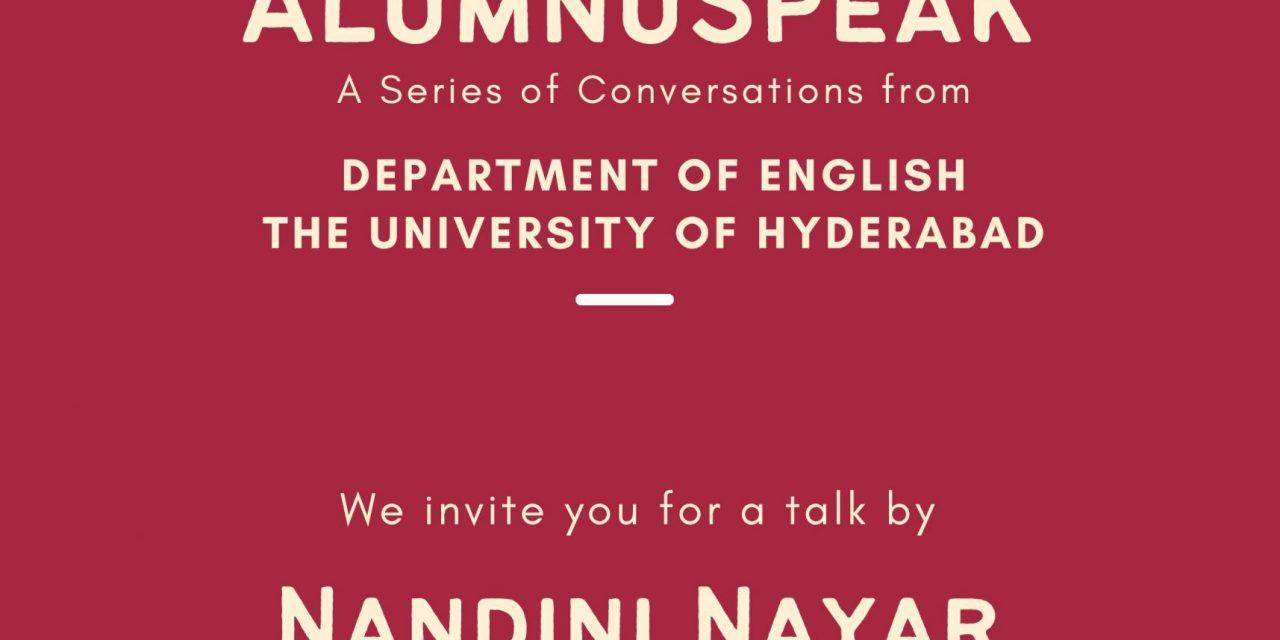 AlumnuSpeak with Nandini Nayar