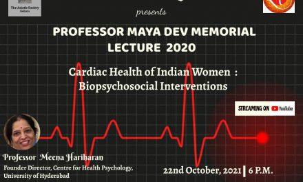 Maya Deb Memorial Lectureship award for Prof. Meena Hariharan